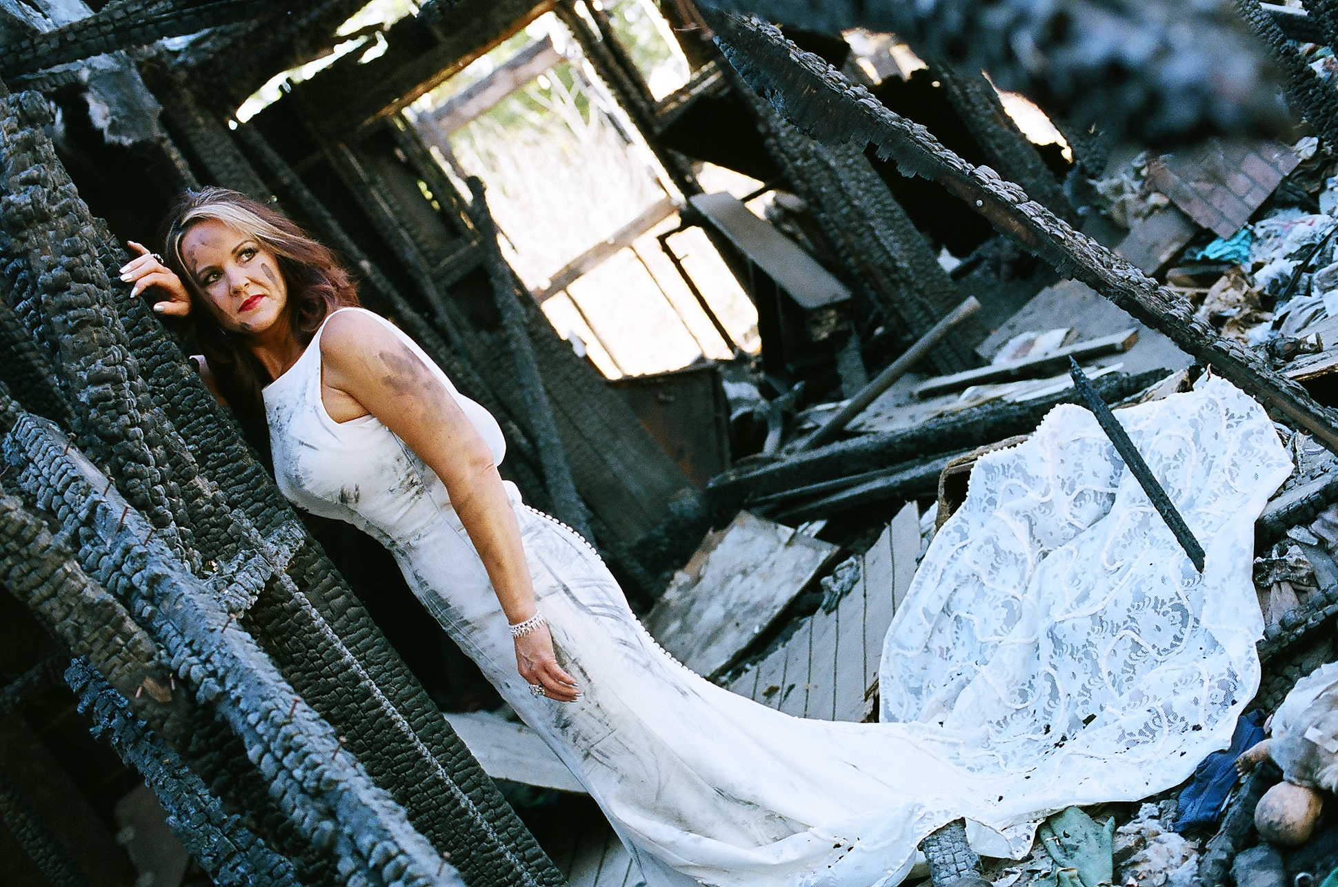 Erica's Burned-Out Trash the Dress Session