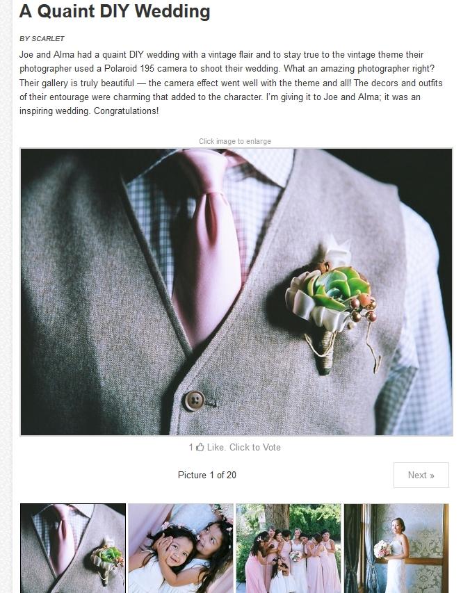 Published! Elegant Wedding Blog