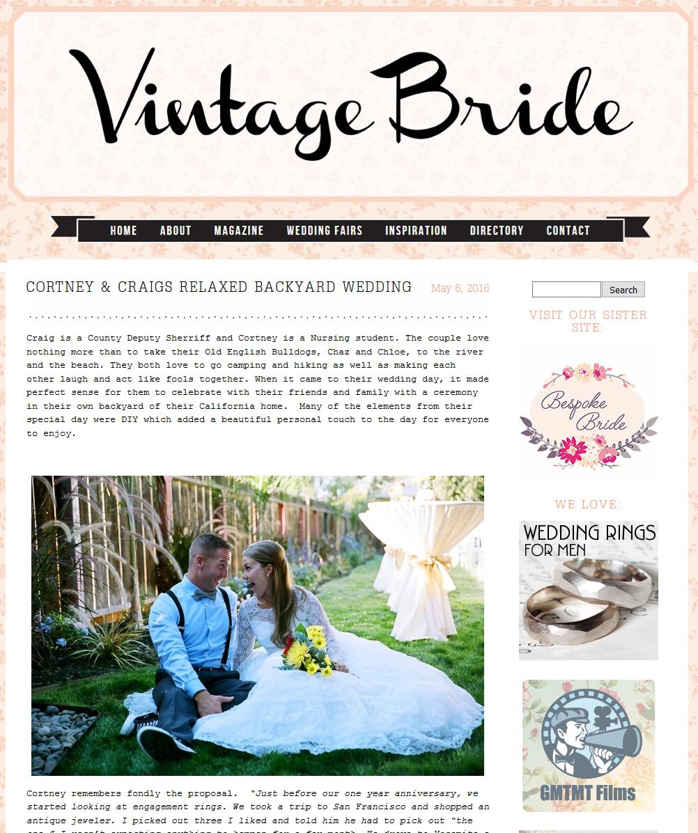 Published! Vintage Bride