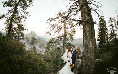 Intimate Swinging Bridge Yosemite Wedding: Erica + Ryan